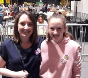 Jen Ryan LMC Chair at the count centre after the 2018 Referendum on the 8th Amendment